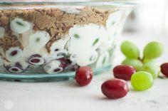 Creamy Grape Salad with Brown Sugar and Pecans | Oh So Delicioso