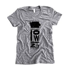 Iowa Tee Women's Athletic Gray now featured on Fab.