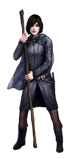 Female wizard w/ staff