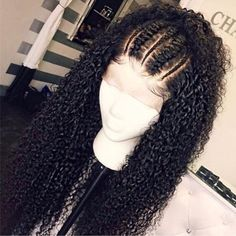 Beautiful long curly wigs for black women lace front wigs human hair wigs hairst. - My list of women's hair styles Curly Lace Frontal, Curly Lace Front Wigs, Wig Styling, Curly Hair Styles, Natural Hair Styles, Braids For Curly Hair, Natural Wigs, Human Hair Lace Wigs, Human Wigs