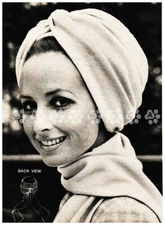 Vintage Instructional Sewing Pattern to make a Ladies Mod Glamorous Turban Hat by A PDF For Immediate Digital Download