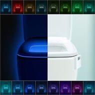 LumiLux Toilet Night Light 16 Color LED Motion Activated Sensor Bathroom Seat