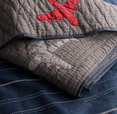 aeronautically-inspired bedding. washed for extra softness. #rhbabyandchild #fallinlove