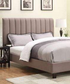 Look what I found on #zulily! Taupe Sterling Upholstered Full/Queen Headboard Set #zulilyfinds