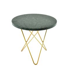 OX Denmarq - Mini O table - grøn/messing - 3875 kr