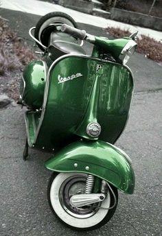 Stunning green Vespa..