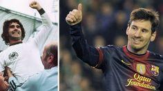 Messi breaks Mueller's goals record