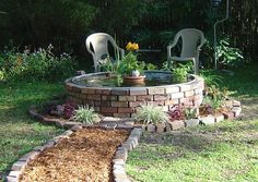 Looks like a nice relaxing place! Away from all the nonsense in this little garden!