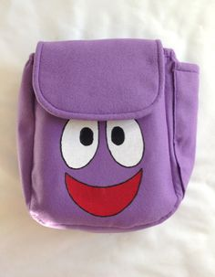 Dora The Explorer Inspired Felt Backpack with Map Pocket (if our baby girl ever watches Dora the Explorer).