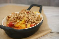 Peach Crisp for One