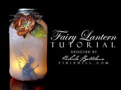 Create a cute as buttons fairy in a jar lantern that can be used as a nightlight or magical accent. See the blog post for complete supply list: http://goo.gl...