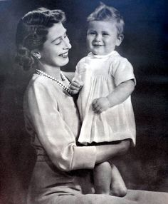 The Queen and Prince Charles 1949 | by littlejennywren