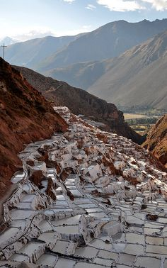 salt pans in Sacred Valley, Peru