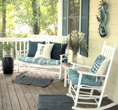 "Be sure to see our festive porch home decor ideas at www.CreativeHomeDecorations.com. Use code ""Pin70"" for additional 10% off!"