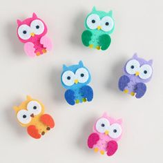 One of my favorite discoveries at WorldMarket.com: Felt Birthday Owl Clips, Set of 6