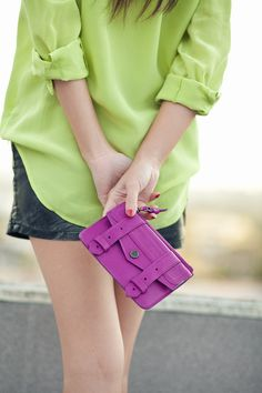 Limonade :: Neon blouse & Spike flats : Wendy's Lookbook