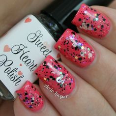 Sweet Heart Polish Steam Boat Willie over China Glaze Strike a Rose
