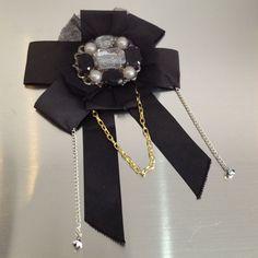 Jeweled Black Bow Brooch    Kane Women's Jewelry via: Michelle Tan - Price: $69.00