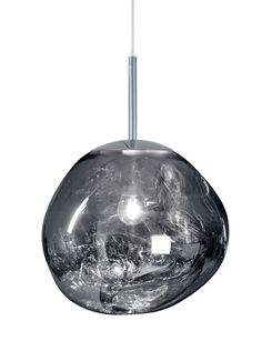 Tom Dixon Melt Mini Chrome Light: This Super Cool, Futuristic Lighting Globe Is The Result Of A Collaboration Between Iconic Product Designer Tom Dixon And The Swedish Radical Design Collective Front. Translucent When On And A Mirror Finish When Off, This Piece Is A Fantastic Feature Piece, Hung On It's Own Or In A Cluster.