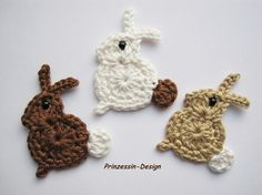 Different colours of bunnies...from Mehr von Prinzessin-Design, Steinhagen, Deutschland (Germany)