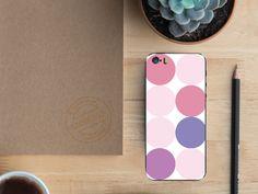 """Zarte rosa Schattierungen verzieren dein Smartphone mit dem Design """"Multicolored Dots 2"""". #designfolie #smartphonecover #pink #dots"""