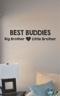 Slap-Art™ Best buddies big brother little brother Vinyl Wall Art Decal Sticker lettering saying uplifting inspirational quote verse