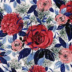 RJR Fabrics  Rose Hutch  Favorite Floral Rouge by RJR Studio