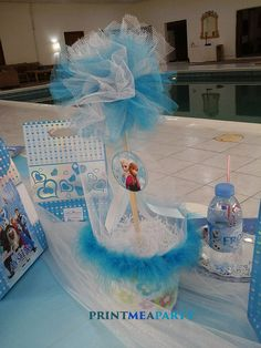Poolside Frozen party Birthday Party Ideas | Photo 8 of 22