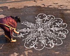 25 Beautiful Kolam Designs and Rangoli Kolams for your inspiraiton | Read full article: http://webneel.com/kolam-designs | more http://webneel.com/daily | Follow us www.pinterest.com/webneel