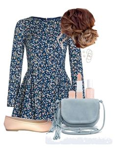 Lydia Martin Inspired Outfit by chocolatemilky on Polyvore featuring polyvore fashion style Yumi Kimchi Blue Vanessa Mooney claire's Michael Kors Rimmel Essie clothing TeenWolf LydiaMartin