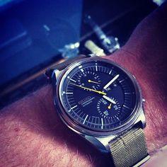 Vintage Seiko 6138 Automatic Chronograph watch on NATO strap