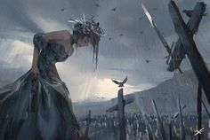 Wang Ling (aka WL OP) is a hobbyist digital artist, born in China. His illustrations are from the fantasy world of stories. Arte Digital Fantasy, Digital Art, Fantasy Artwork, Character Inspiration, Character Art, Fan Art, Image Manga, Medieval Fantasy, Fantasy Girl
