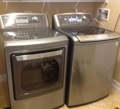 LG Top Loader and Steam Dryer in Graphite Steel Awesome!!!!