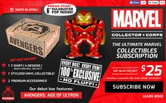 New Subscription Box - Marvel Collector Corps!