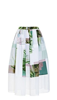 Pin for Later: The One Skirt That Will Flatter EVERYONE Tibi Printed Full Skirt Tibi Fiore Di Cactus Full Skirt ($425)