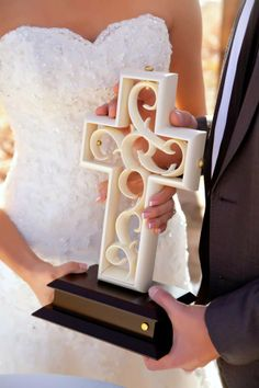Ivory Unity Cross. A new, unique idea for your wedding to represent two becoming one!