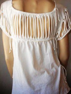 womens shredded tshirt - so delicate!