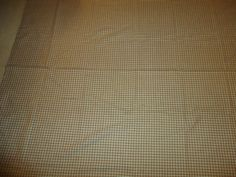 """Vintage Scrap Fabric/Material.  Small Checkered Motif.  72"""" X 56"""" #Unbranded"""