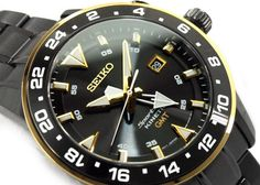 Seiko Mens Sportura Kinetic GMT 100m Watch SUN026, SUN026P1 - In Stock, Free Next Day Delivery, Our Price: £349.99, Buy Online Now