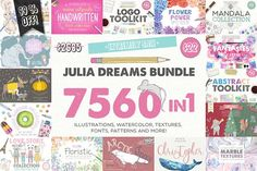 7560 in 1 - GRAPHIC BUNDLE - 99% OFF by Julia Dreams on @creativemarket