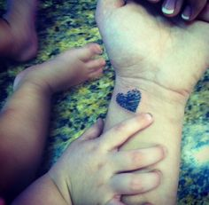 Fingerprint heart tattoo! ❤️