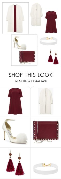 """""""Lady"""" by patya20022108 ❤ liked on Polyvore featuring Manon Baptiste, MANGO, Jimmy Choo, Valentino, Kate Spade and Vanessa Mooney"""
