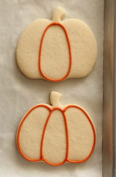 Decorated Pumpkin Cookies 1 Maybe shake orange sugar +/or chocolate sprinkles on before baking, then this easy frosting after