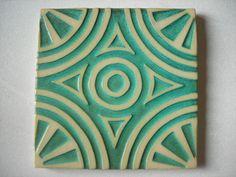 Handmade Ceramic Tiles by DragonPottery on Etsy, $15.00