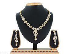 Jewellery Set Women's American Diamond Jewellery Set Material: Alloy Size: Free Size Description: It Has 1 Piece Of Necklace And 1 Pair Of Earring Work: Stone Work Country of Origin: India Sizes Available: Free Size   Catalog Rating: ★4.1 (11416)  Catalog Name: Women's American Diamond Jewellery Set CatalogID_330122 C77-SC1093 Code: 022-2460317-774