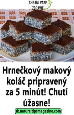 Hrnečkový makový koláč pripravený za 5 minút! Chutí úžasne! Delicious Desserts, Dessert Recipes, Yummy Food, Czech Recipes, Oreo Cupcakes, Christmas Baking, Sweet Tooth, Deserts, Food And Drink