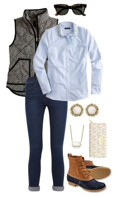"""""""{prepin' in the fall}~"""" by thedancersophie ❤ liked on Polyvore featuring мода, J.Crew, Frame Denim, L.L.Bean, Kendra Scott и MICHAEL Michael Kors"""