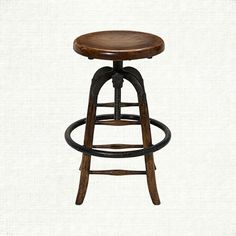 "Trevor 13"" Wooden Bar Stool - 13.75"" dia x 24""H up to 30""H  I have 3  only a basement option"