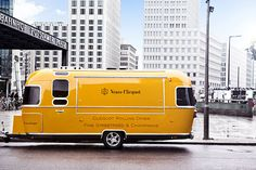 Veuve Clicquot Rolling 50's Airstream Diner. This is one concessions truck I'd happily follow around.