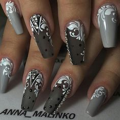 New Voic manicure: 50 photos with beautiful design Sexy Nails, Hot Nails, Fancy Nails, Hair And Nails, Fabulous Nails, Gorgeous Nails, Pretty Nails, Beautiful Nail Designs, Beautiful Nail Art
